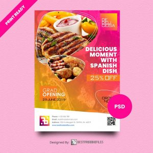 Download Print Ready Free PSD Flyer